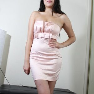Forever 21 blush pink party dress satin